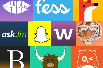 A graphic showing a collection of app logos