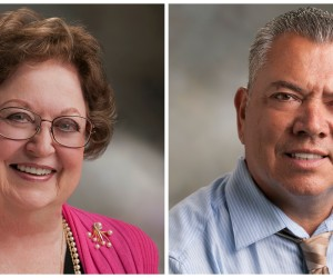 2015 California Classified School Employees of the Year from Orange County Janelle Cranch and Alfredo Perez