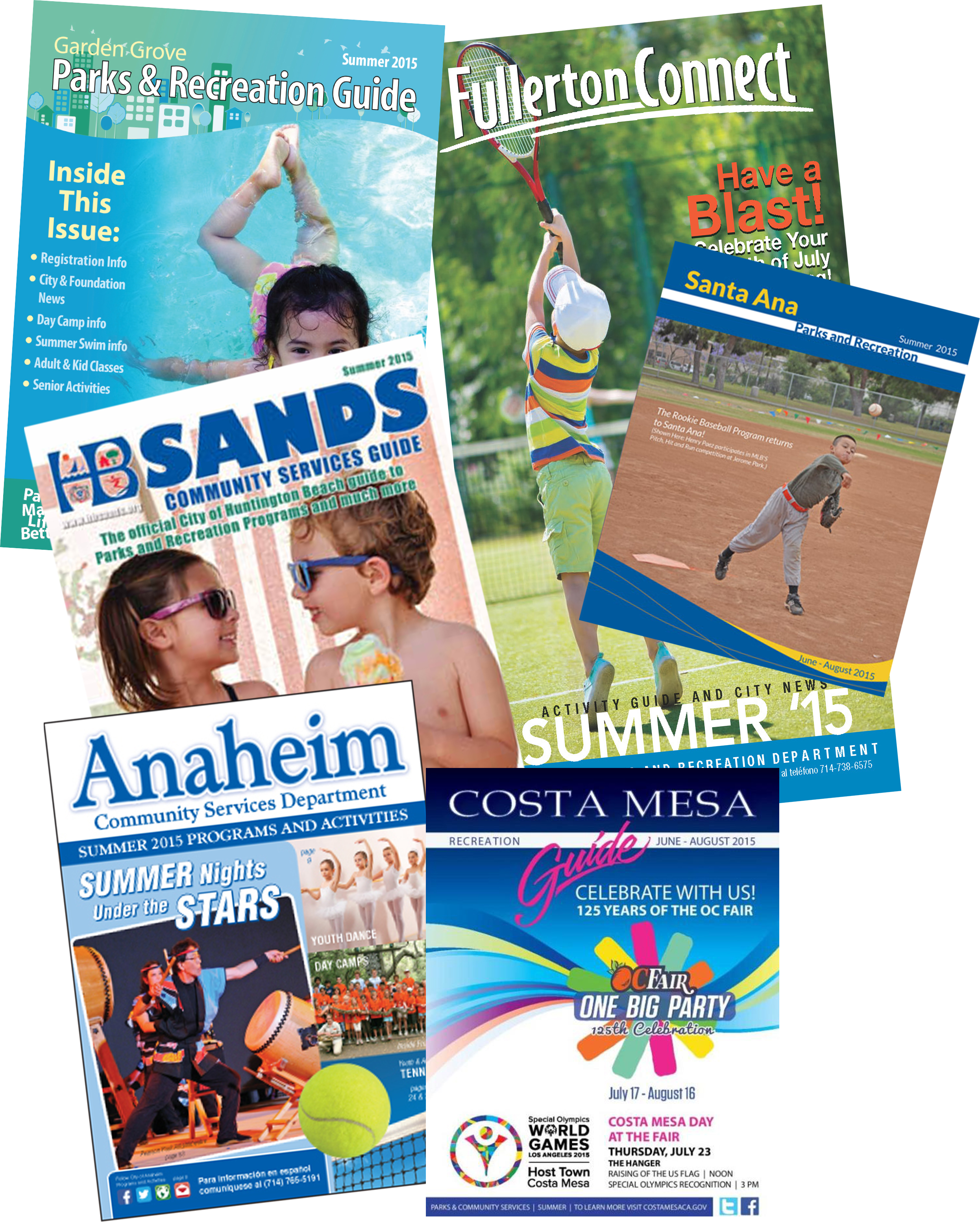 City park and rec brochures