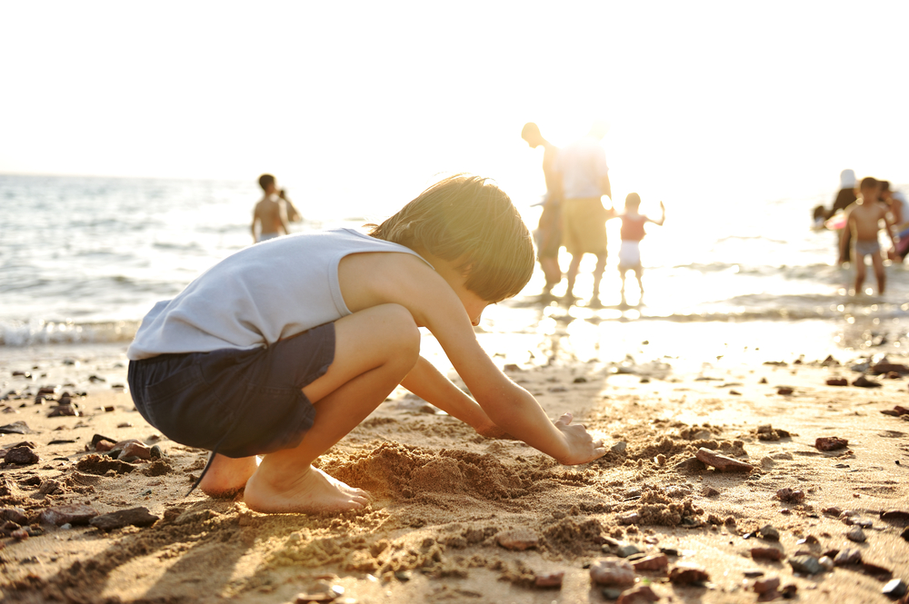 Stock photo child at beach