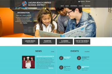 Screenshot of the Laguna Beach Unified School District website