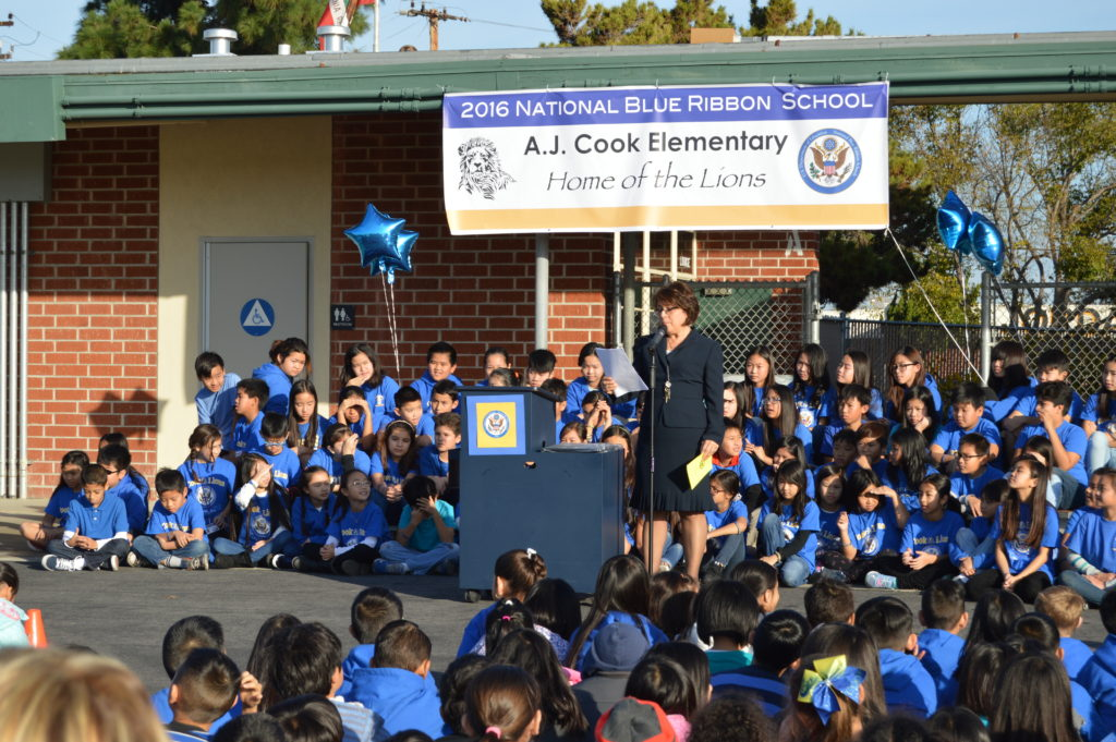 Sealed And Delivered Garden Grove S Cook Elementary School Celebrates Its National Blue Ribbon