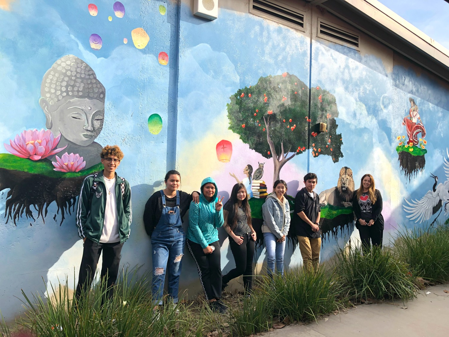 With help from renowned artists, Westminster High students turn campus walls into works of art