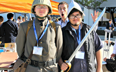 Students from the National History Day-Orange County contest