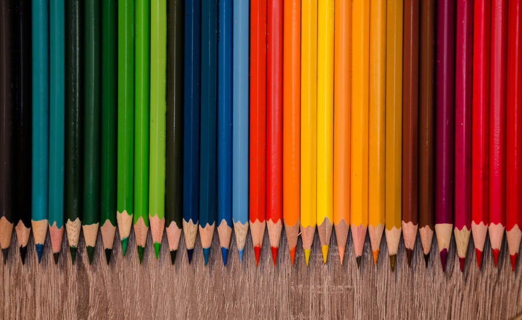 An image of colored pencils