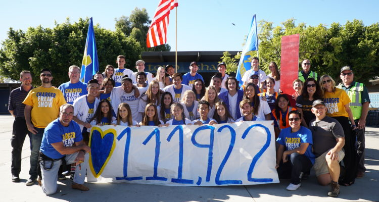 el toro high school 111,922 cans donated group picture