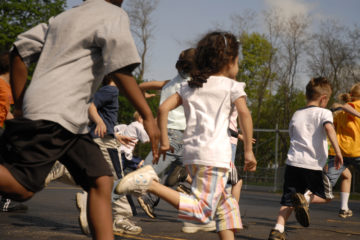 Students running
