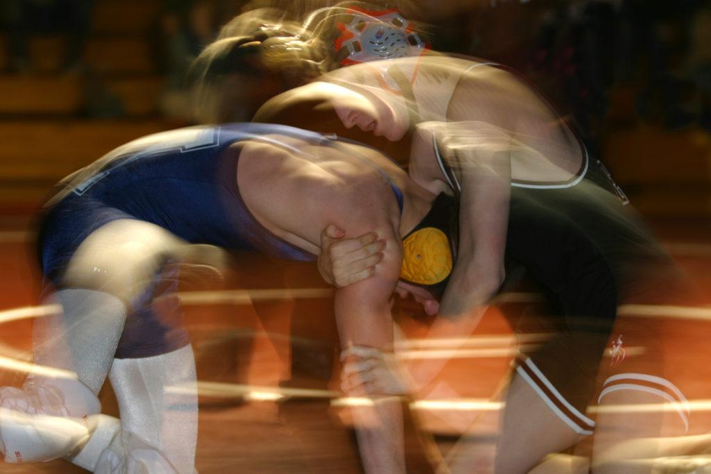 High school wrestlers