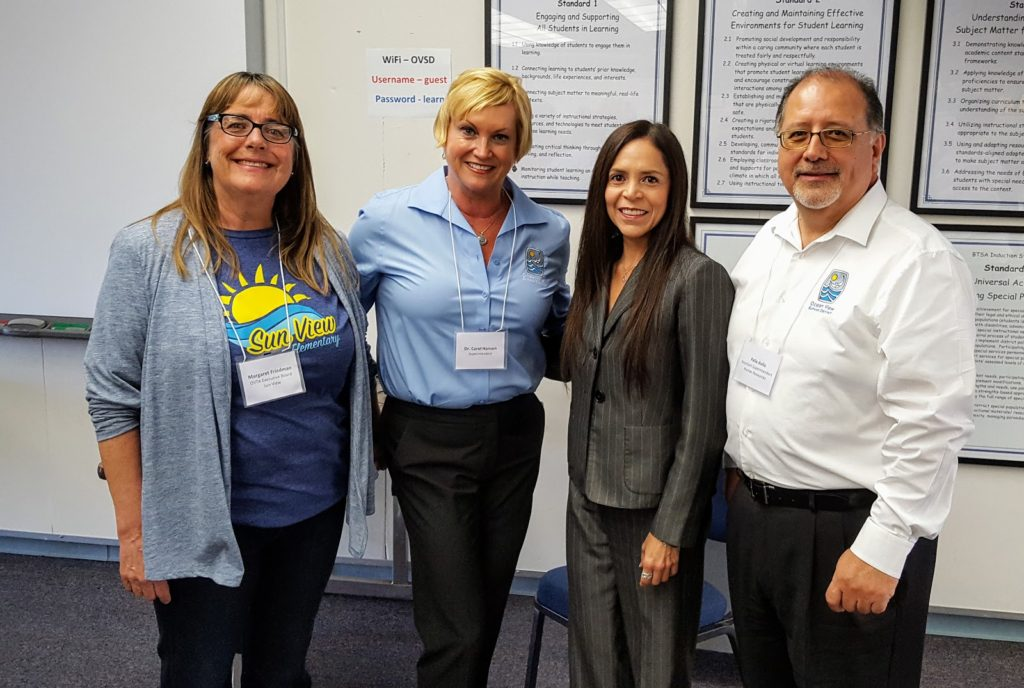 District officials and union leaders from the Ocean View School District