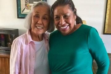 Aki Munemitsu and Sylvia Mendez