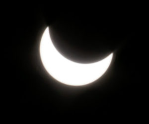 A partial solar eclipse