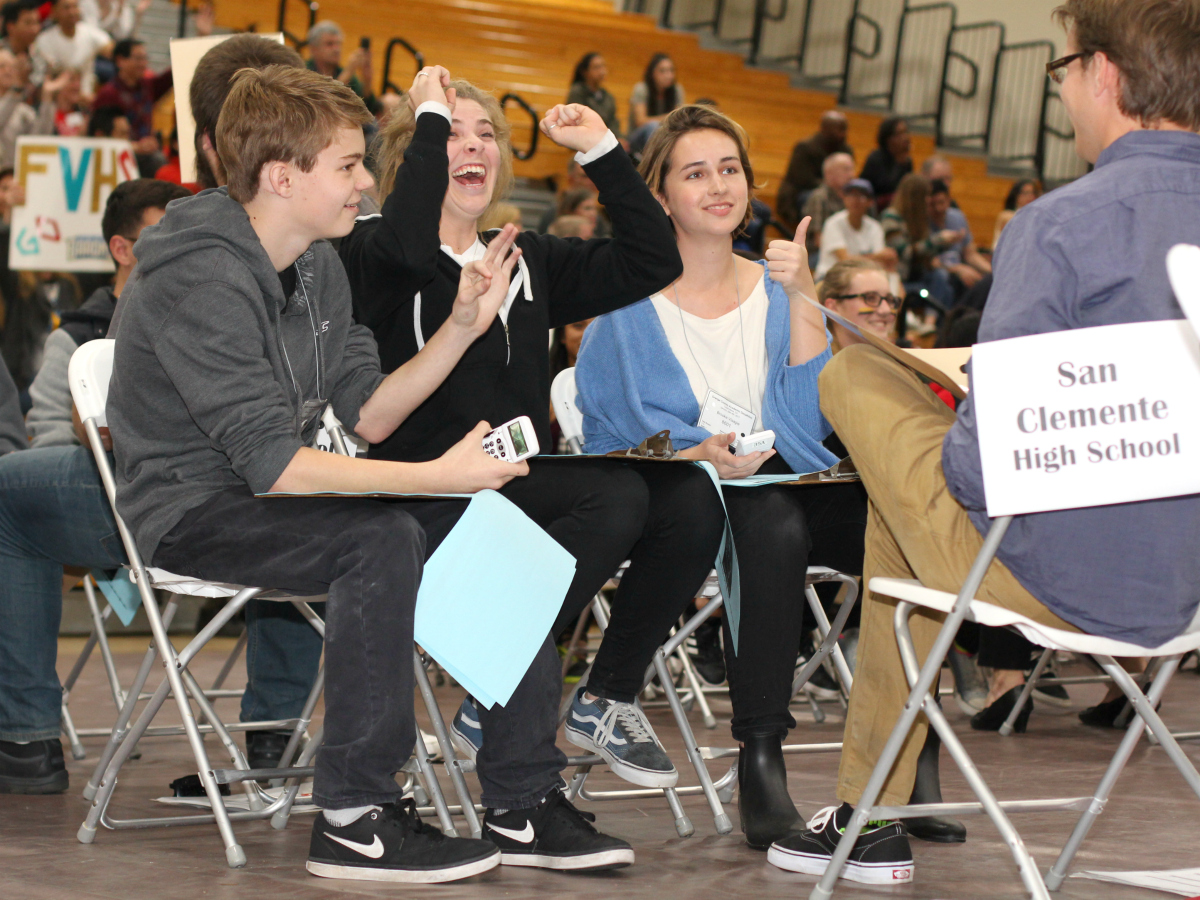 San Clemente High students at the 2017 Orange County Academic Decathlon
