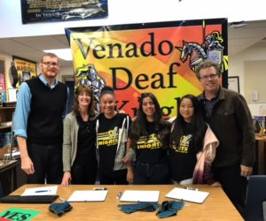 Students from the Blue team at Venado Middle School