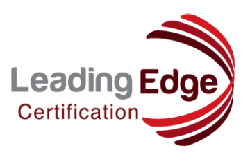 Leading Edge Certification logo red