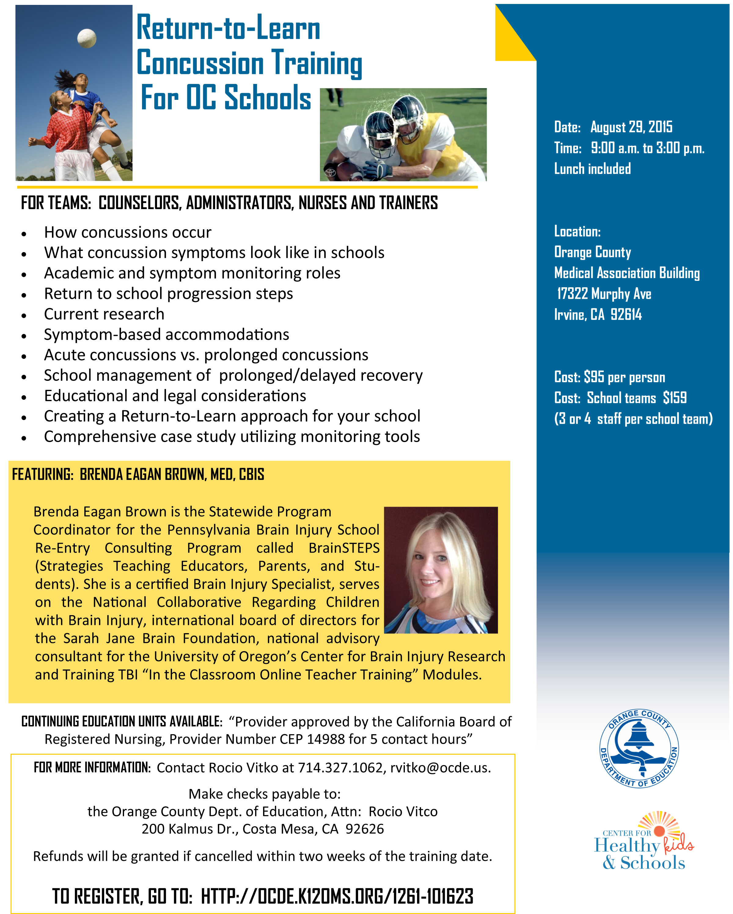 concussion training flyer