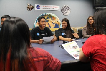 Students at the Jet Propulsion Laboratory