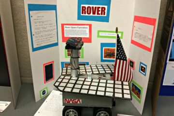 A functioning Mars rover mockup at the CHEP Expo