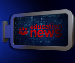 "A graphic that says ""education news"""