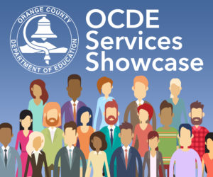 A graphic advertising the OCDE Services Showcase