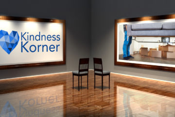 kindness korner, couch delivery