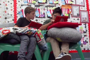 Students collaborating in the Buena Park School District