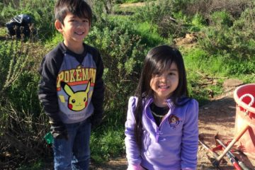 Students from Irvine at the nature preserve