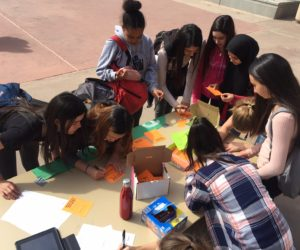 Students participating in kindness activities on campus