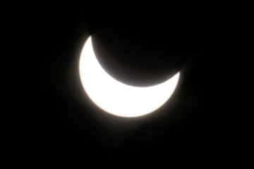 A partial solar eclipse