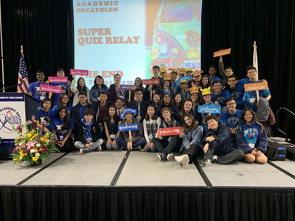 Woodbridge High finishes eighth in 2019 California Academic Decathlon
